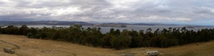 The view from the Mt Nelson Signal Station