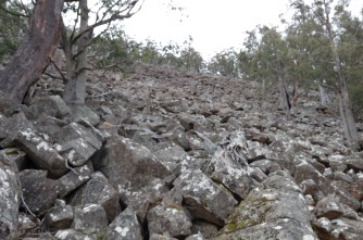 The sea of rock on the Hunters Track
