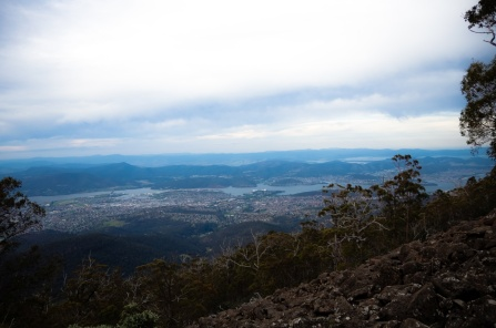 Hobart from the Hunters Track