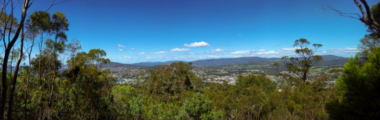 Looking north towards Hobart